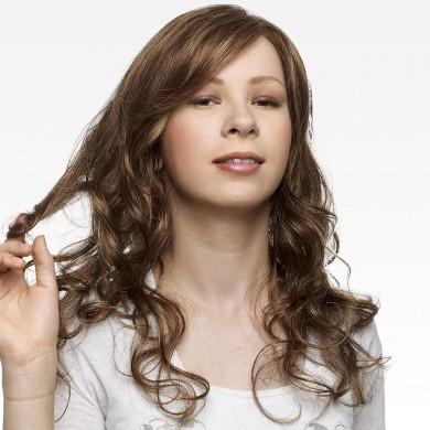 Perruque Adolescente Chatain Clair Cheveux Longs Bouclés - Perruque Adolescente Cancer Chimiothérapie - La Galerie des Turbans
