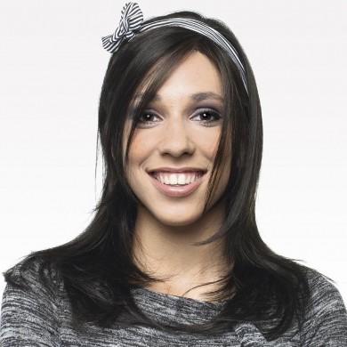 Perruque Adolescente Brune Cheveux Longs Lissés Avec Mèches sur Epaules - Perruque Femme Cancer Chimio - La Galerie des Turbans