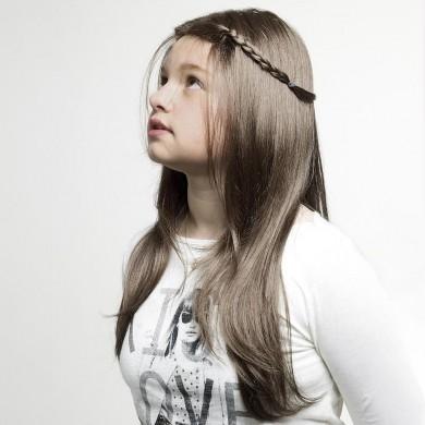 Perruque Fille Ado Chatain Clair Cheveux Longs Et Lisses Avec Mèches sur les Épaules - Perruque Fille Ado Cancer Chimiothérapie - La Galerie des Turbans