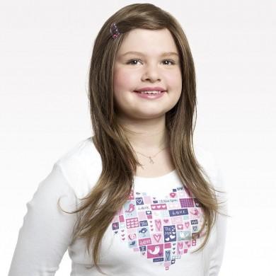 Perruque Fille Ado Chatain Clair Cheveux Longs Lisses Avec Mèches sur les Epaules - Perruque Fille Ado Cancer Chimiothérapie - La Galerie des Turbans